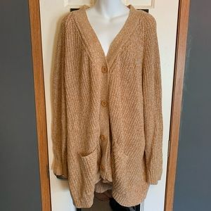 NWOT Woman Within 2XL cardigan mustard color